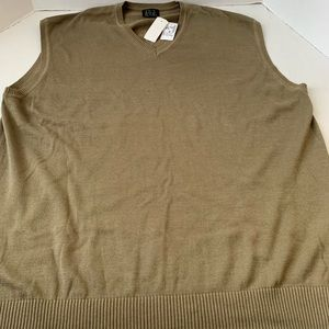 Men's NWT JOS. A Bank Sweater Vest 2XL